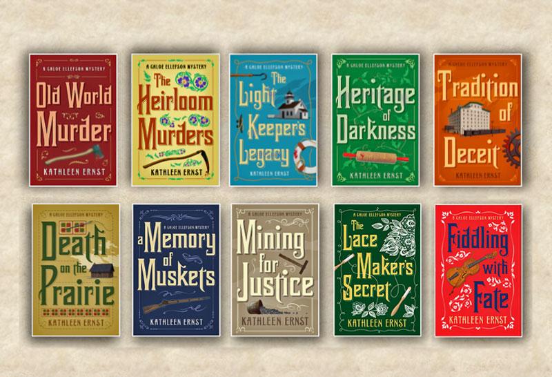 Chloe Ellefson Mystery series book covers.