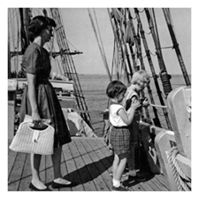 Bestselling author Kathleen Ernst as a child at Mystic Seaport CT