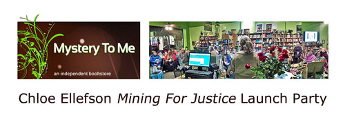 Mining For Justice launch party at Mystery To Me bookstore 2017.