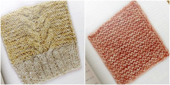 Swatches from Amimono K (Knit) Book