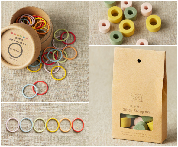 Cocoknits Jumbo Stitch Markers & Stoppers