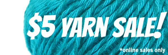$5 Yarn Sale