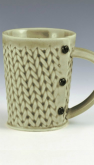 Creative with Clay Knitted Tea Mug