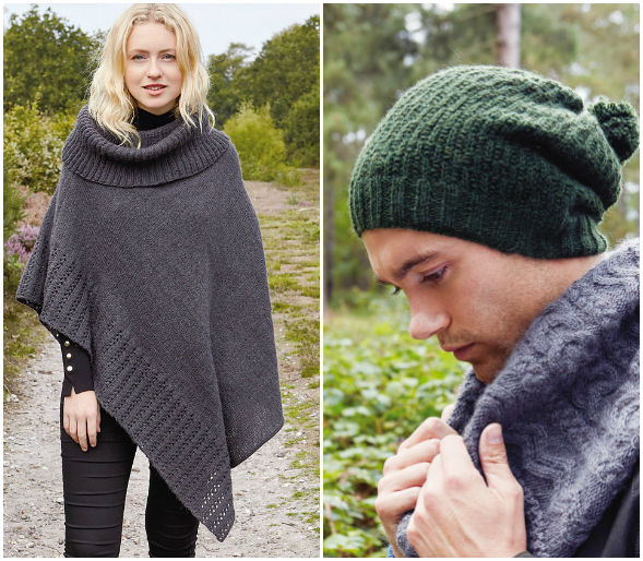 Rowan Cloudberry and Buckler Hat & Curlew Cowl