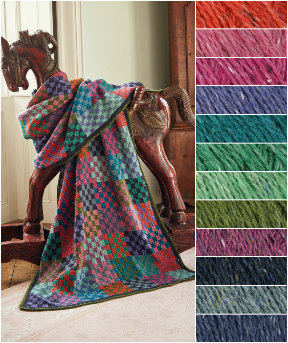 Rowan Checkerboard Throw Kit