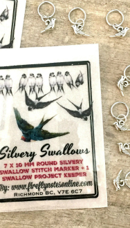 Swallow Stitch Markers