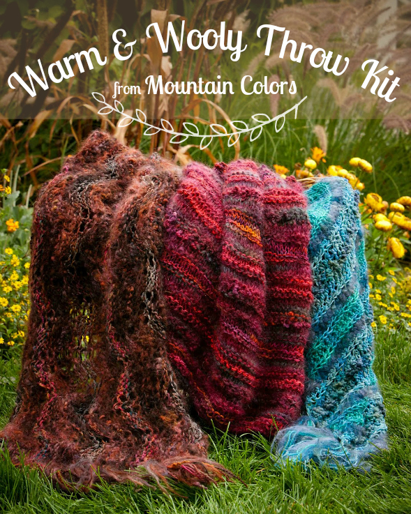 Mountain Colors Warm & Wooly Throw Kit