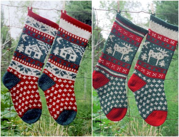 Annie's Woolens Cabin & Moose Kits