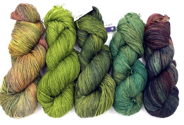 Malabrigo Sock Greens