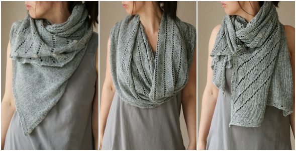 A Twist of It Shawl