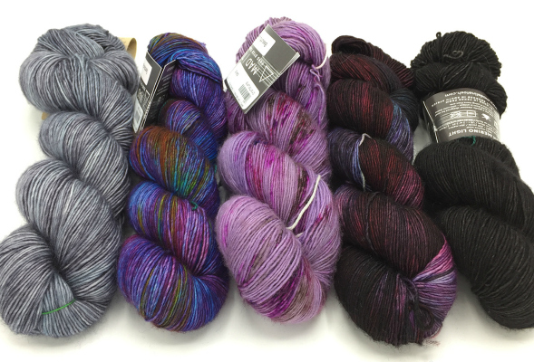 Madelinetosh Tosh Merino Light Bright Purples