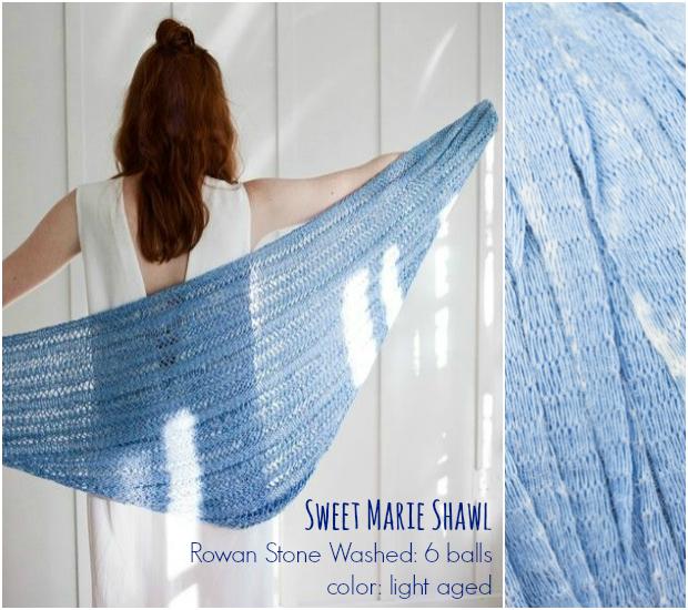 Rowan Sweet Marie Shawl