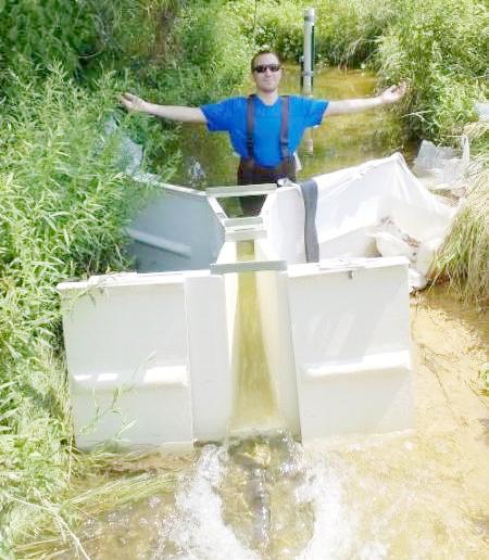 Zach Checking Stream Flow