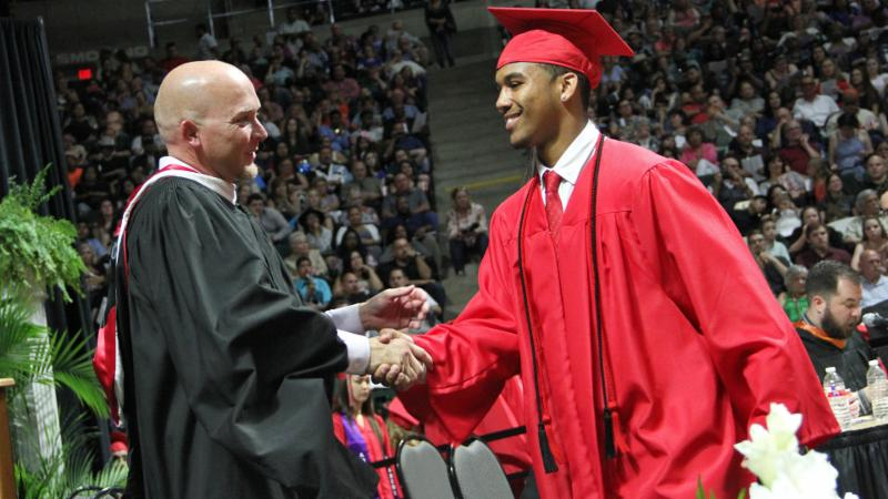 A Northwest student graduates