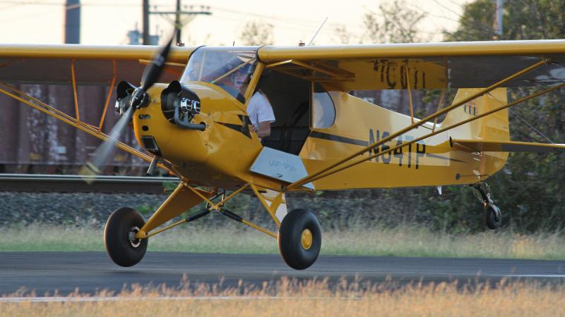 Kale Burks flies his 2008 Legend Cub airplane