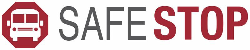 The SafeStop bus-tracking application logo