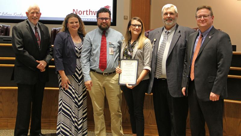 Trustees recognized instructional technology staff for Common Sense certification.