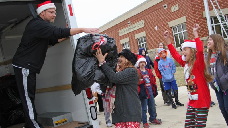 Roanoke students donating items for families affected by Hurricane Harvey