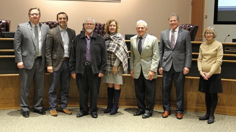 Northwest Community Partnership members pose for a photo