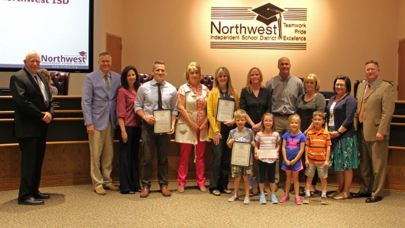 Trustees recognized Lakeview_ Cox and Granger for the 21-Day Challenge.