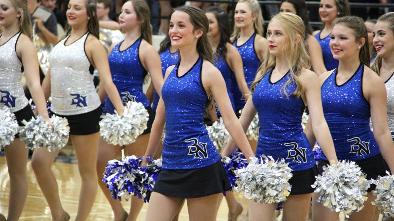 Byron Nelson Dazzlers perform in the first pep rally of the year