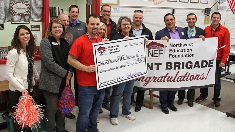 Pike celebrates receiving a NEF grant
