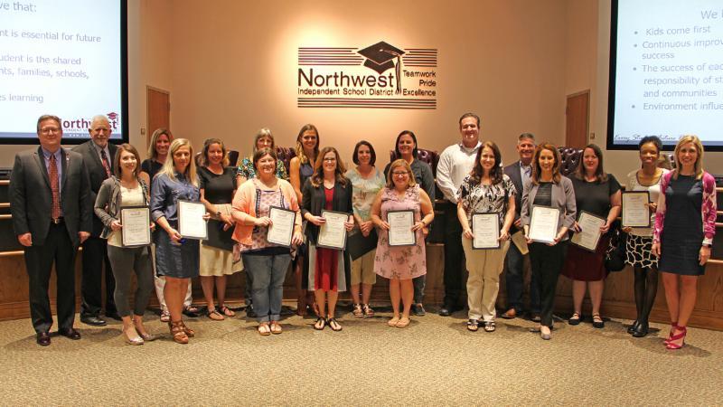 Trustees recognized graduates of Leadership NISD.