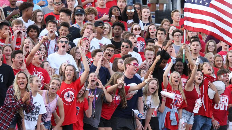 Northwest Texan fans cheer at a recent game