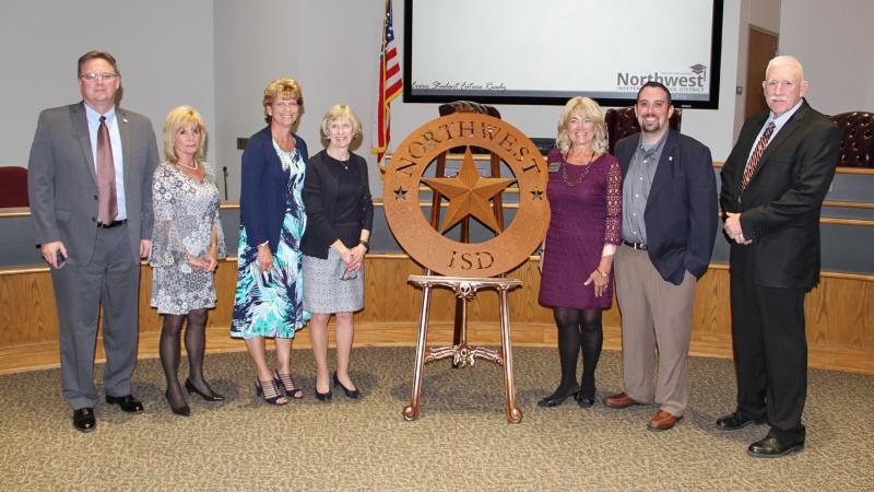 Trustees celebrated Devonna Holland_s time with the board.