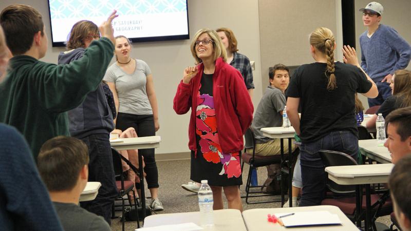 Dr. Megan Webster leads the AP Super Saturday session
