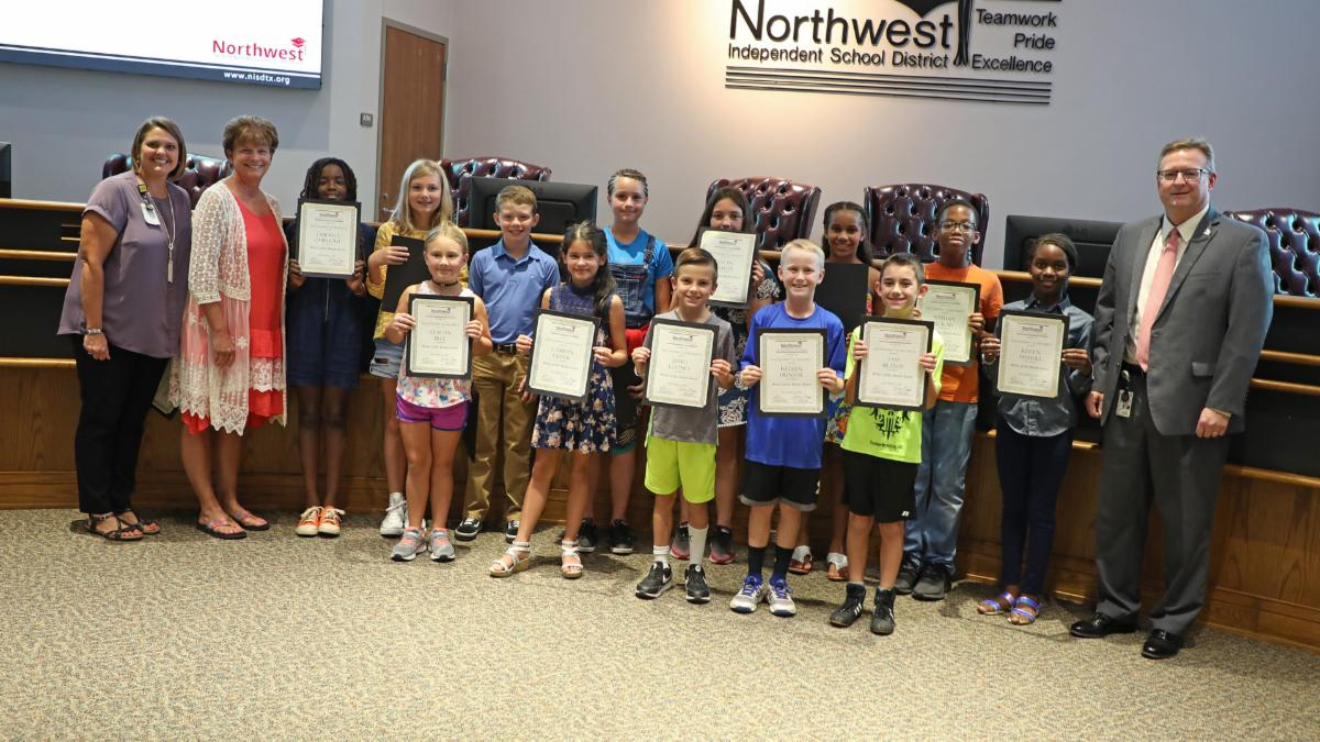 2018-19 Elementary Writers of the Month