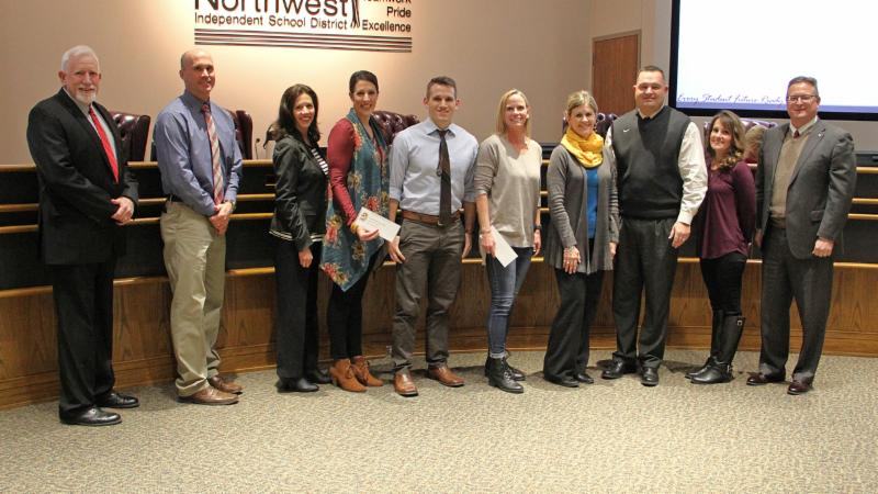 Trustees recognized Cox and Granger for having the highest participation in the 21-Day Challenge.