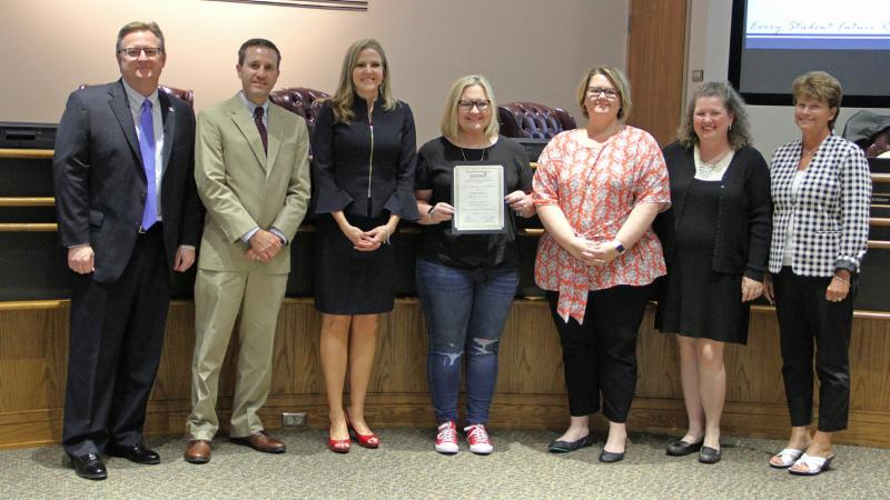Trustees recognized Northwest_s PTSA for winning a National PTA award.