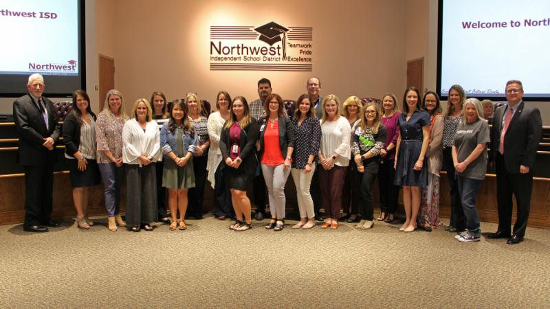 Trustees recognized the newest staff ambassadors.