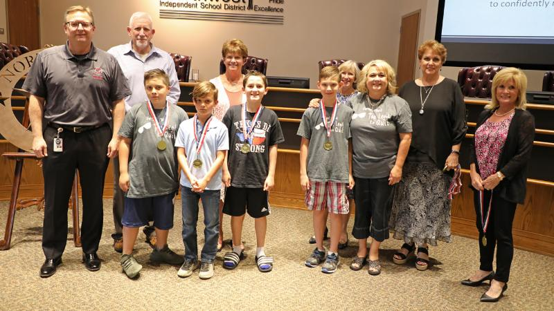 Trustees recognize Thompson students who competed in DI Global Finals