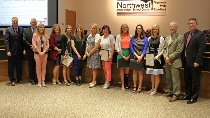 Trustees recognized Byron Nelson counselors for earning RAMP distinction.