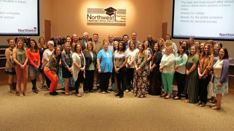 Trustees recognized staff ambassadors.