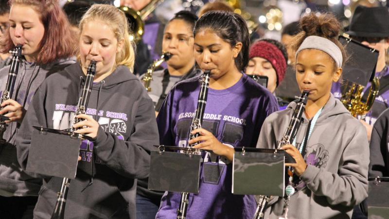 Wilson Middle School students perform in the 2018 Northwest ISD Band Showcase