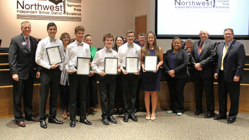 Trustees recognized Eaton student company CHAAO for being named a Junior Achievement Company of the Year finalist.