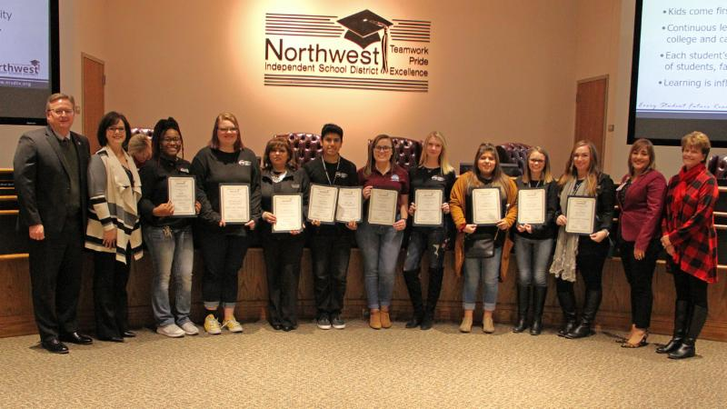 Trustees recognized Shears of Steele and its student stylists for giving back to the community.