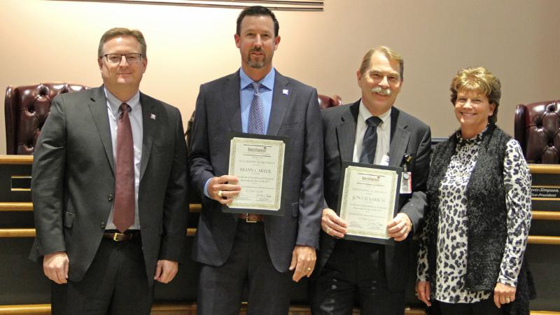 Trustees recognized the financial services staff for receiving multiple recent awards for best practices.