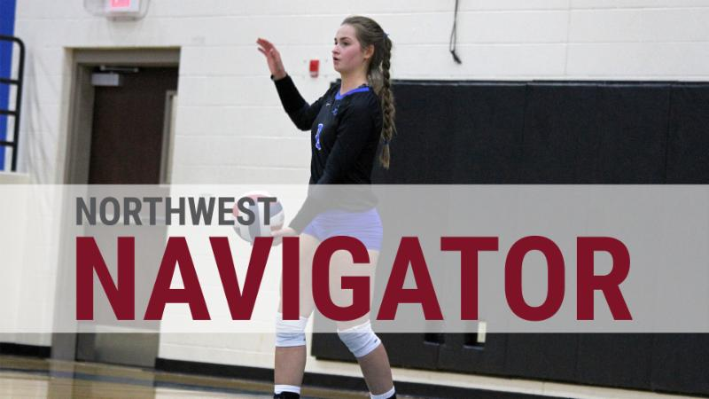 A photo of Byron Nelson's Paige Flickinger with the text Northwest Navigator