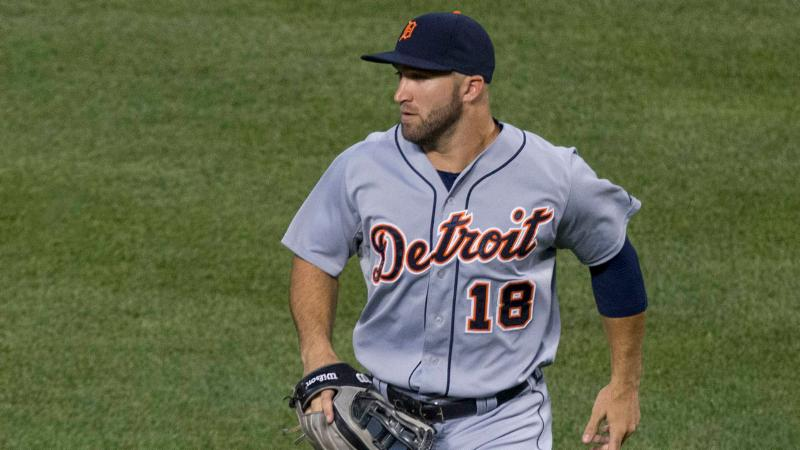 Northwest alumnus Tyler Collins playing for the Detroit Tigers