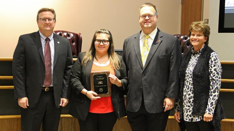Trustees recognized Sonic of Tehama Ridge for serving as a district Adopt-A-School sponsor.