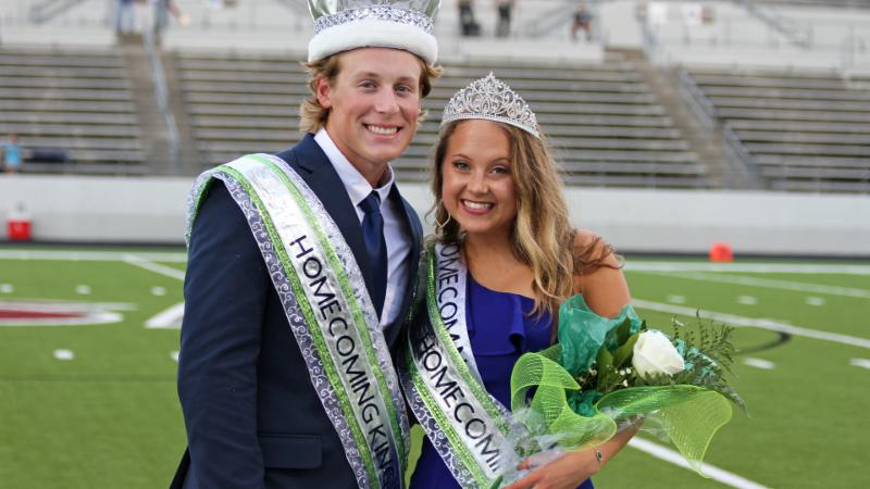 Eaton homecoming king and queen_ Caleb Hull and Brinlee Lenochan