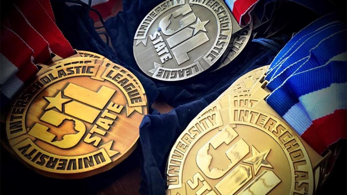 A photo of UIL medals