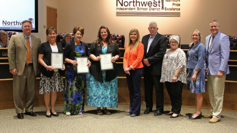 Trustees recognized three ESL High Qualified Teacher Academy participants.