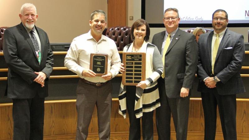 Trustees recognized Superior Fiber _ Data Services for adopting Seven Hills.