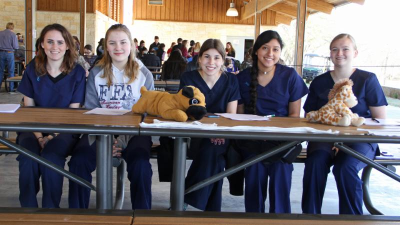 Northwest ISD FFA students pose as they prepare to judge students in career development events
