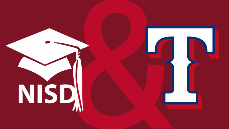 Northwest ISD and Texas Rangers logos